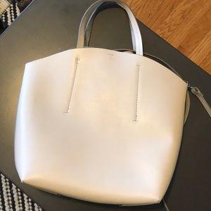Zara White Faux Leather Bag